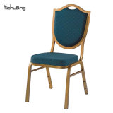 Special Back Green Fabric Aluminum Banquet Chair (YC-B86)