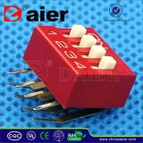 SMD Terminal Right Angle DIP Switch with 2~12 Positions