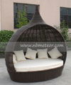 Outdoor Rattan Sofa Bed Wicker Daybed (MTC-131)