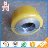 High Hardeness PU Rubber Covered Industrial Caster Rollers with Metal Bolt