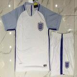 2016/2017 Season England White Football Uniform Kits