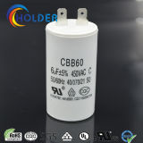 AC Motor Run and Start Capacitor (Cbb60 605j 450VAC) with High Voltage and 2 Pins /Ce/UL/VDE/RoHS/CQC All Series) /Wholesale Factory