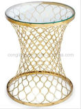 2016 Modern Gold Plating Nets Side Table for Sale