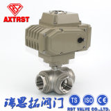 Stainless Steel Thread 3 Way Ball Valve Wtih Electric Actuator
