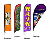 Beach flying vertical banner flag with pole kit