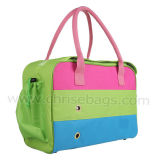 Three-Color PU Pet Carrier Funtional and Good Quality