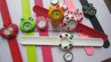 Cute Animal Slap Snap Watch Children Watches Kids Teens Silicone Rubber Wristwatch Slap Watch