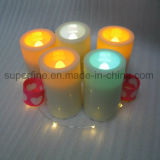 Outdoor Garden Decorative Battery Amber Luminary Votive LED Candles Waterproof
