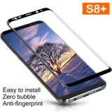Tempered Glass Full Coverage Film 3D Curved HD Clear Shield Anti-Bubble Screen Protector Lifetime Replacement for Samsung Galaxy S8 Plus