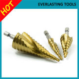 HSS Hex Shank Titanium Coated Spiral Flute Step Drill Bits