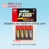 1.5V Farer Super Heavy Duty Dry Battery (R6 AA, Um-3)
