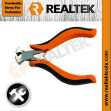 Nickel-Planted Mini End Cutting Pliers with Bi-Color Plastic Handles
