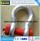 Us Type Carbon Steel Drop Forged Chain Shackle with Screw Pin