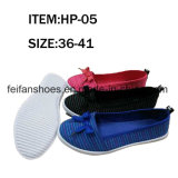 Women Injection Canvas Flat Shoe with Good Price