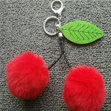 New Design Synthetic Fur Pompom Cheap POM Ball Keychain