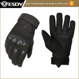 Black Winter Military Police Protective Gloves, Outdoor Cycling Snowing Gloves