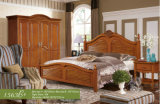 Ikea Bedroom Sets, America Bed, Wooden Bed (1563)