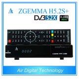 DVB S2X + DVB S2 + DVB T2/C Newest Satellite H. 265 TV Receiver Zgemma H5.2s+