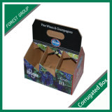 Six Pack Wine Carrier Paper Box with Custom Printing