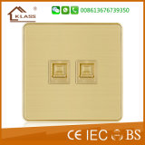 Factory Price Wall 2 Gang Tel Socket Outlet, Phone Outlet