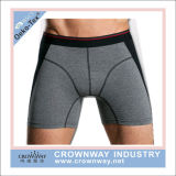 Men Long Style Cotton Boxer Underwear with Elastic Waistband