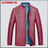 Fashion PU Jacket for Men Winter Clothing