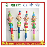 Wooden Craft Pencil with Clown Cartoon Design