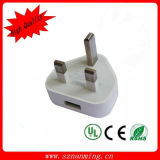 Portable 5V 1A Output UK Jack Plug USB Wall Charger
