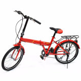 "20"" Folding Bicycle 6 Speed Sport Fold Frame Red Cycling Foldable Cycle"