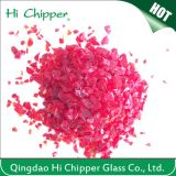 Terrazzo Red Colored Glass Chips