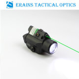 Compact Glock Pistol and Full Size Handgun Fittable Subzero Workable Aluminium Tactical 220 Lumens LED Light with Green Laser Sight