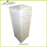 Square Floor Standing Paper Lanterns with Bamboo Ribs