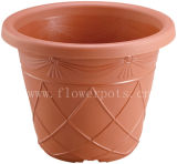 Plaid Round Plastic Flower Pot (KD7201-KD7205)