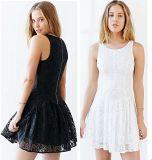 OEM 2015 Sleeveless Design Summer Black Women Lace Dresses