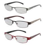 High Quality Popular Designer Printing Temples Metal Reading Glasses
