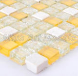 Yellow Ice Cracked Glass Mosaic Mixed Stone Tile A4k5005