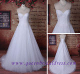Hiqh Quality Sweetheart Neckline Wedding Dress with Heavy Crystal Beads