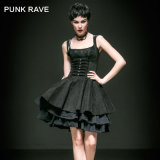 Fashion Long Slinky Dresses with Skull Decorated (Q-239)