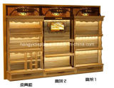 Composite Cabinets Wall Display with Wooden Veneer