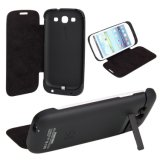 3200mAh External Backup Battery Charger Case Stand for Samsung Galaxy S3 I9300
