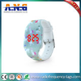 Ntag216 RFID Wristbands with LED Light Watch for Hotel