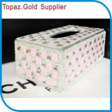 House Hold Tissue Box Car Tissue Box with Crystal Rhinestones