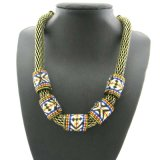Chain Retro Embroidery Style Necklace Thick Chain in Anti-Gold