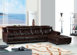 Home Furniture Luxury Living Room Leather Sectional Sofa Set (903)
