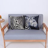Digital Print Decorative Cushion/Pillow with Zebra Pattern (MX-87)