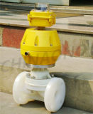 Plastic Pneumatic Operated Flange Diaphragm Valves