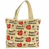 Custom Reusable Canvas Shopping Bag with Emoji