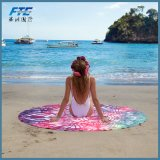 Microfiber Printed Tree Style Round Beach Towel