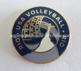 Metal Trading Pin for Rio USA Volleyball (badge-002)