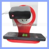 Folding 90 Angle Digital Electronic Charging Wall Socket Phone Holder for iPhone / Samsung